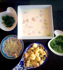 ingredientes para la pasta de vieiras