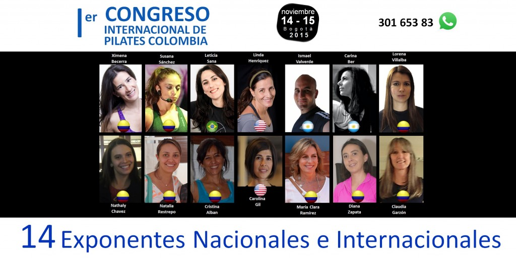 conferencistas primer congreso internacional de pilates colombia